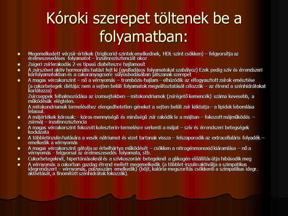 Kóroki szerepet töltenek be a folyamatban: