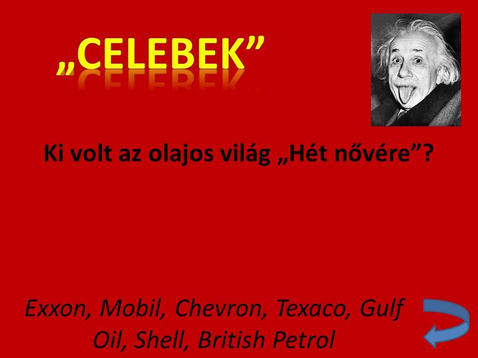 """Ki volt az olajos világ """"Hét nővére"""