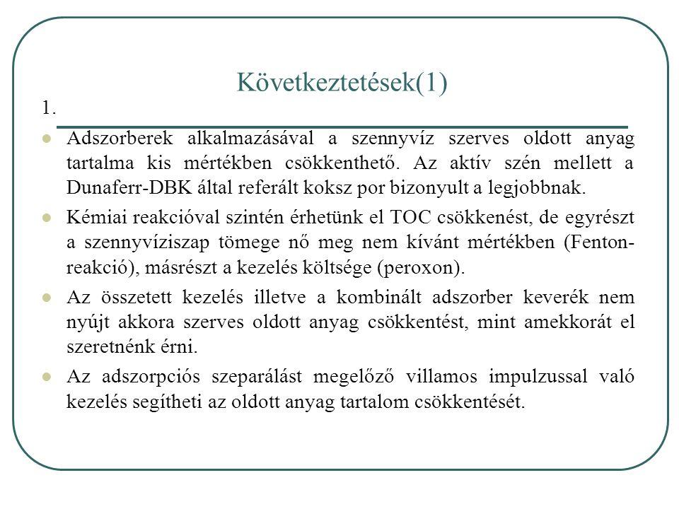 Következtetések(1) 1.