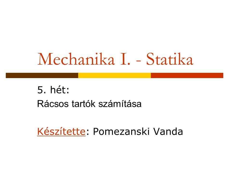 5. hét: Rácsos tartók számítása Készítette: Pomezanski Vanda