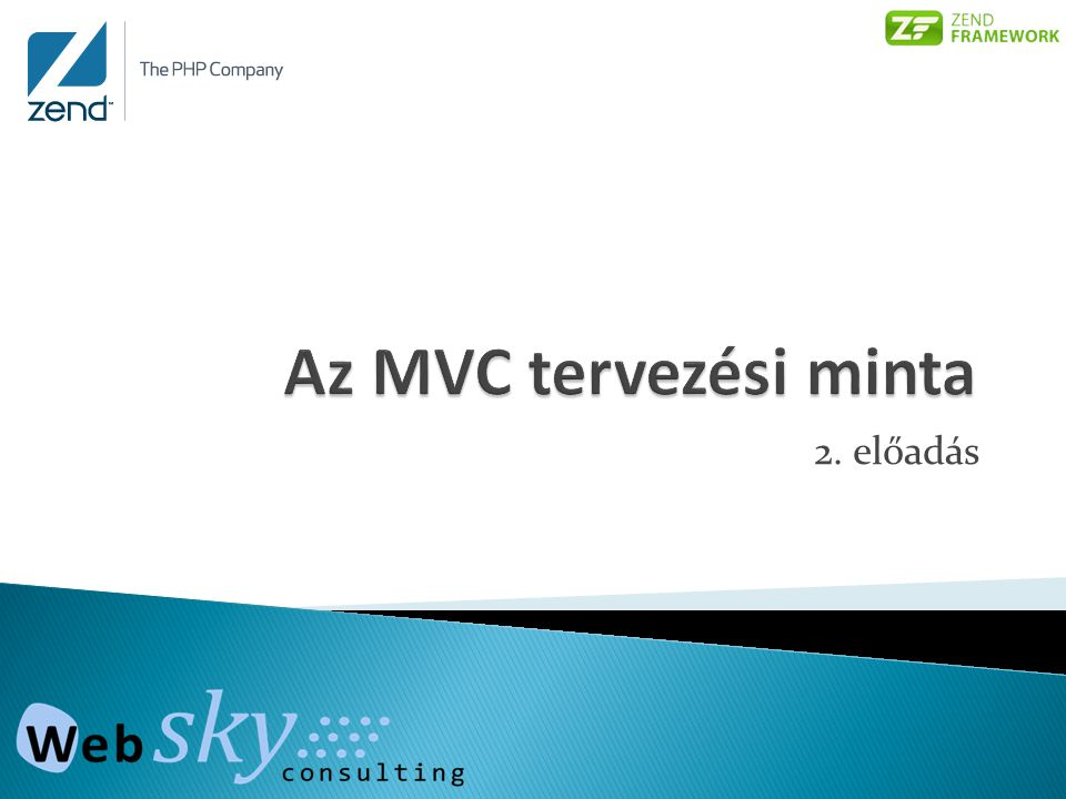 Az MVC tervezési minta 2. előadás