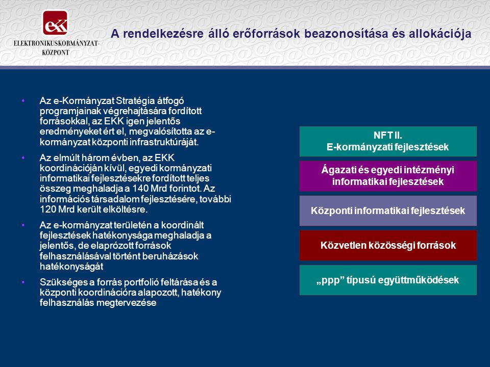 A rendelkezésre álló erőforrások beazonosítása és allokációja