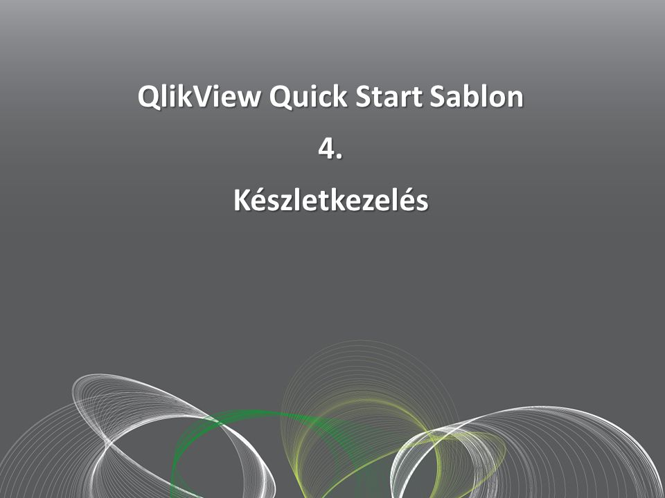 QlikView Quick Start Sablon