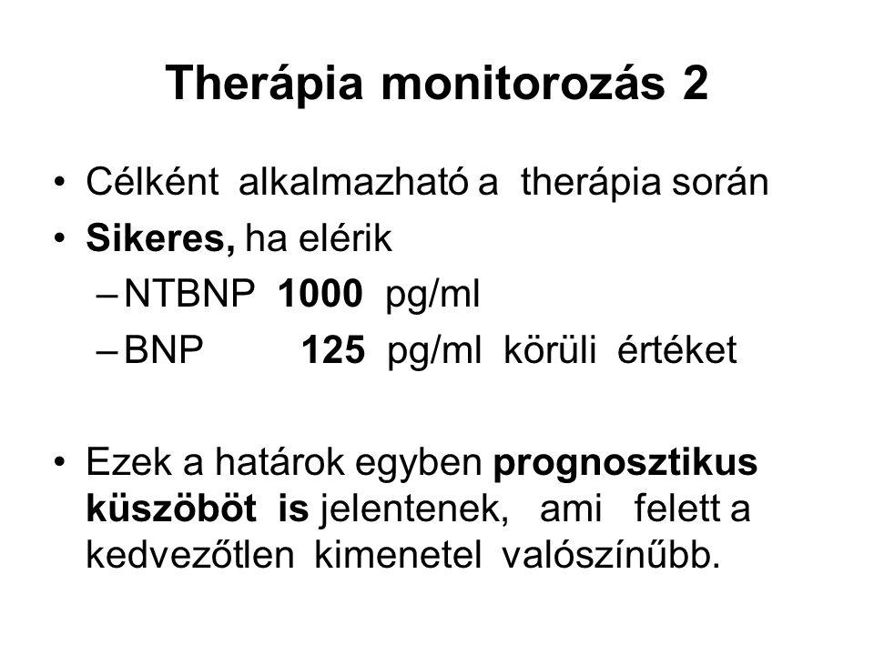Therápia monitorozás 2 Célként alkalmazható a therápia során