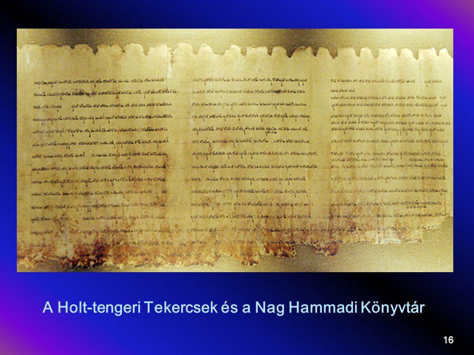 A Holt-tengeri Tekercsek és a Nag Hammadi Könyvtár