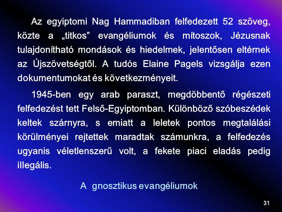 A gnosztikus evangéliumok