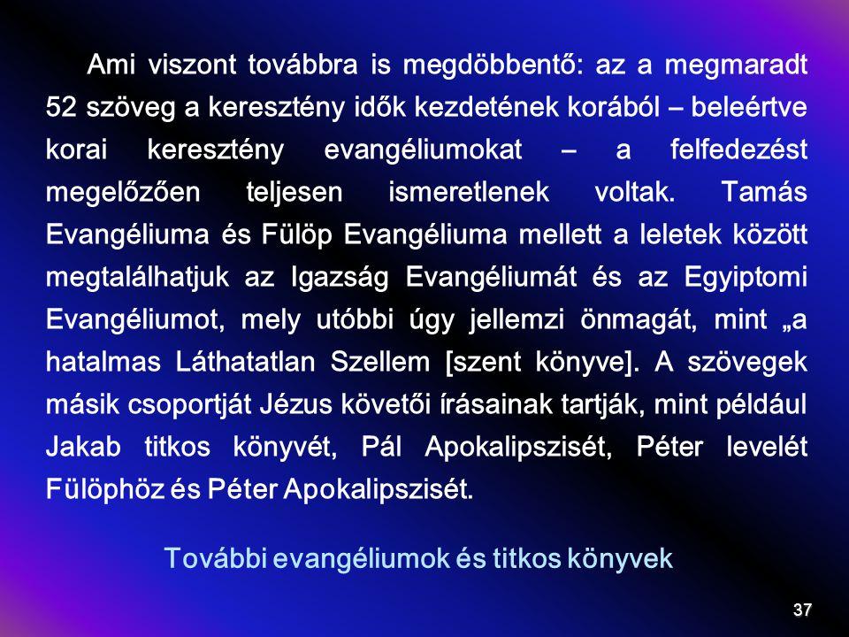 További evangéliumok és titkos könyvek