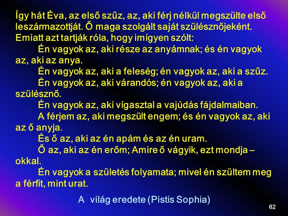 A világ eredete (Pistis Sophia)