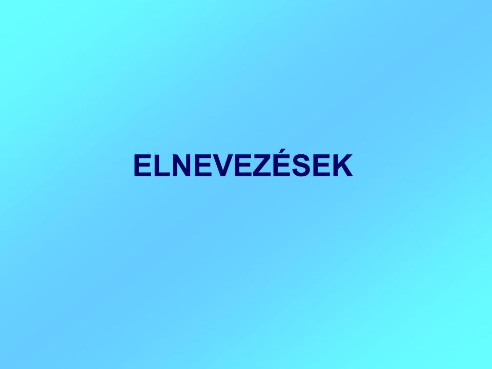 ELNEVEZÉSEK