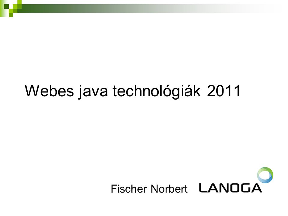 Webes java technológiák 2011