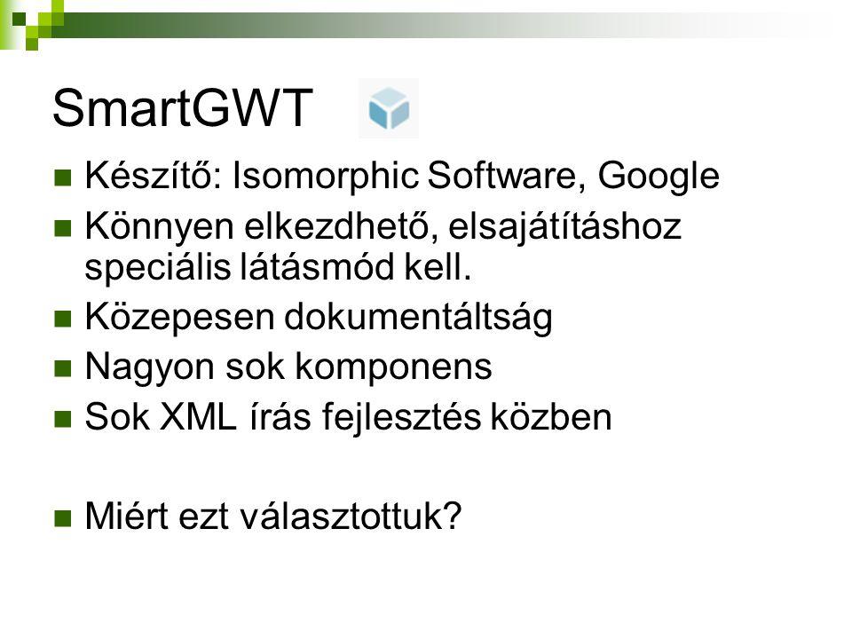 SmartGWT Készítő: Isomorphic Software, Google