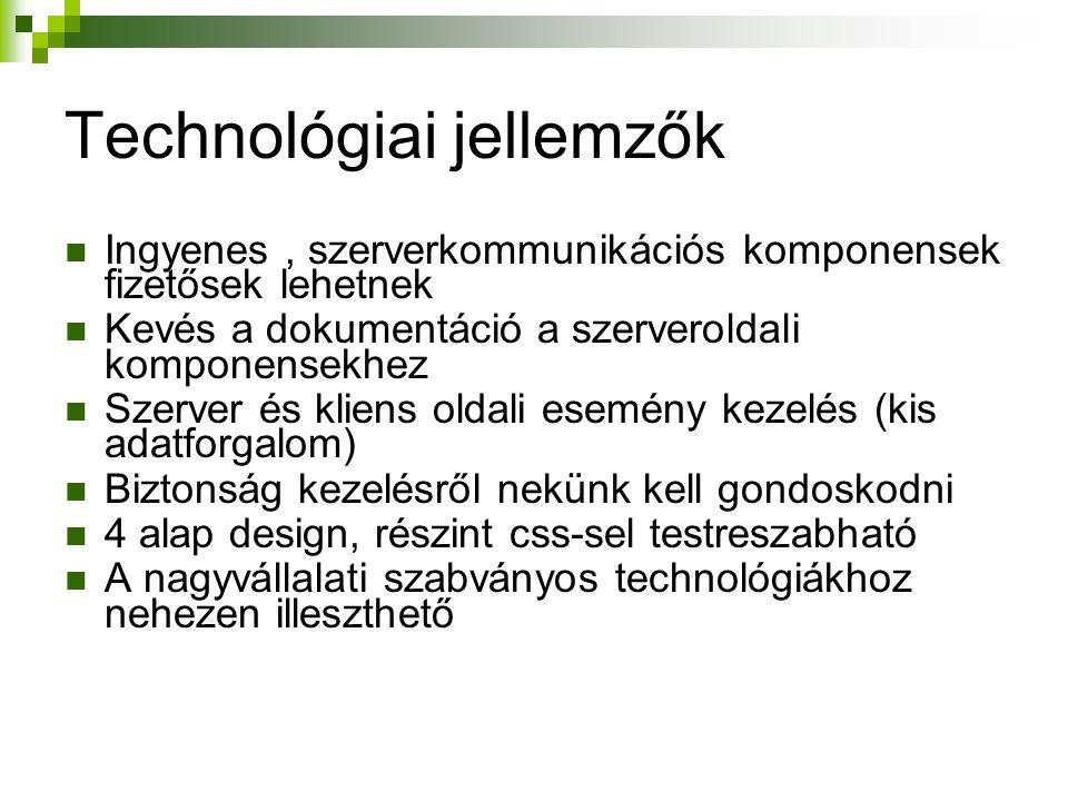 Technológiai jellemzők