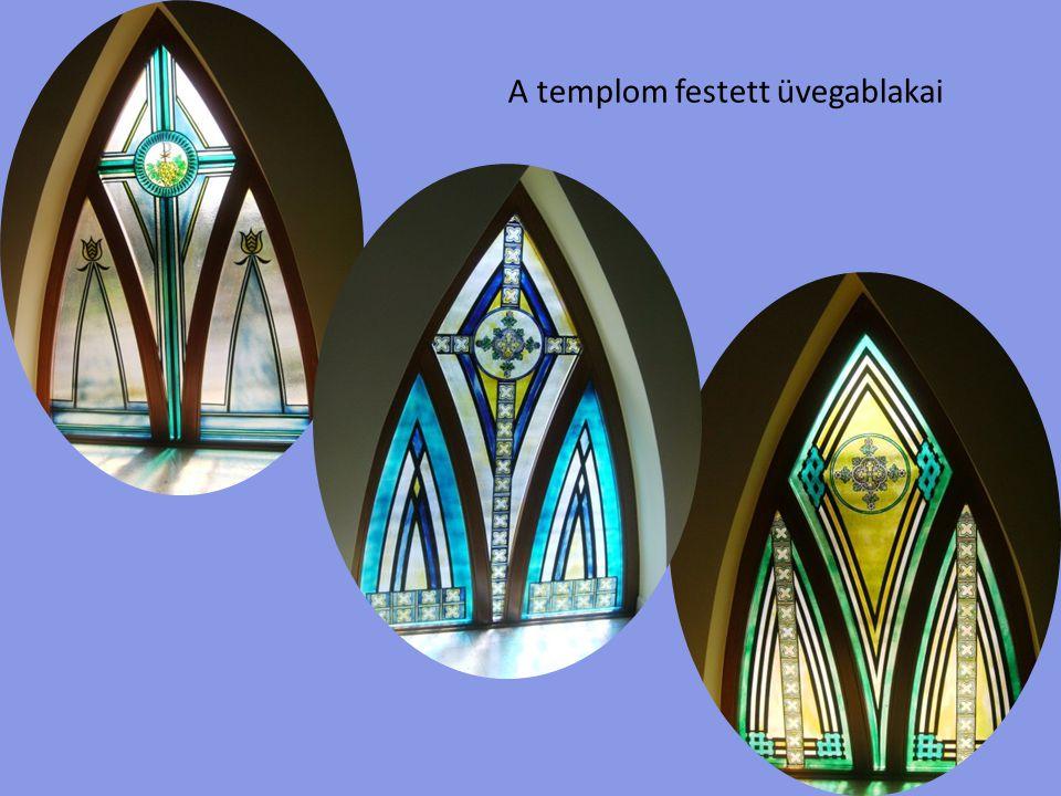 A templom festett üvegablakai
