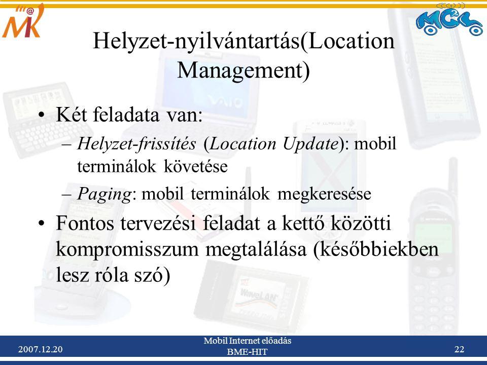 Helyzet-nyilvántartás(Location Management)