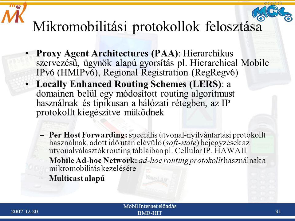 Mikromobilitási protokollok felosztása