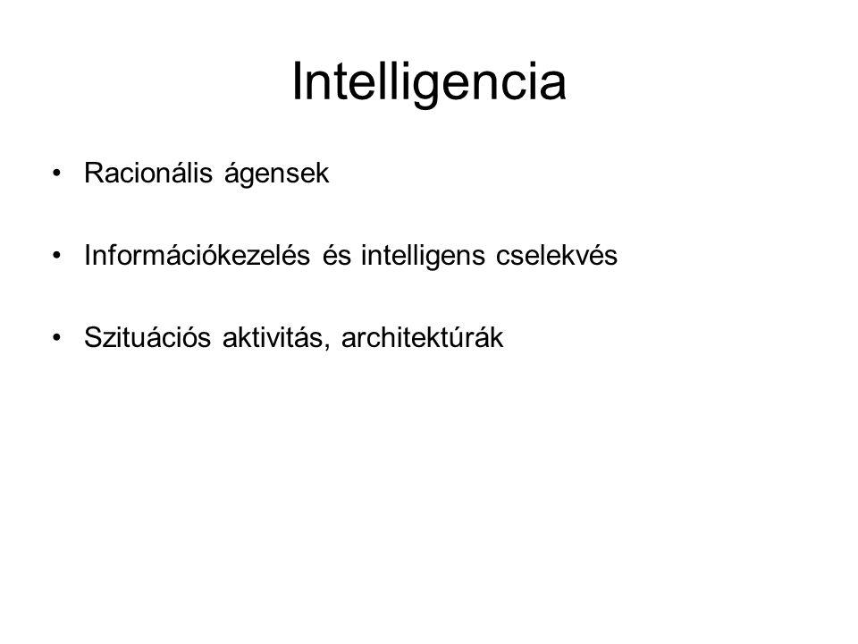 Intelligencia Racionális ágensek