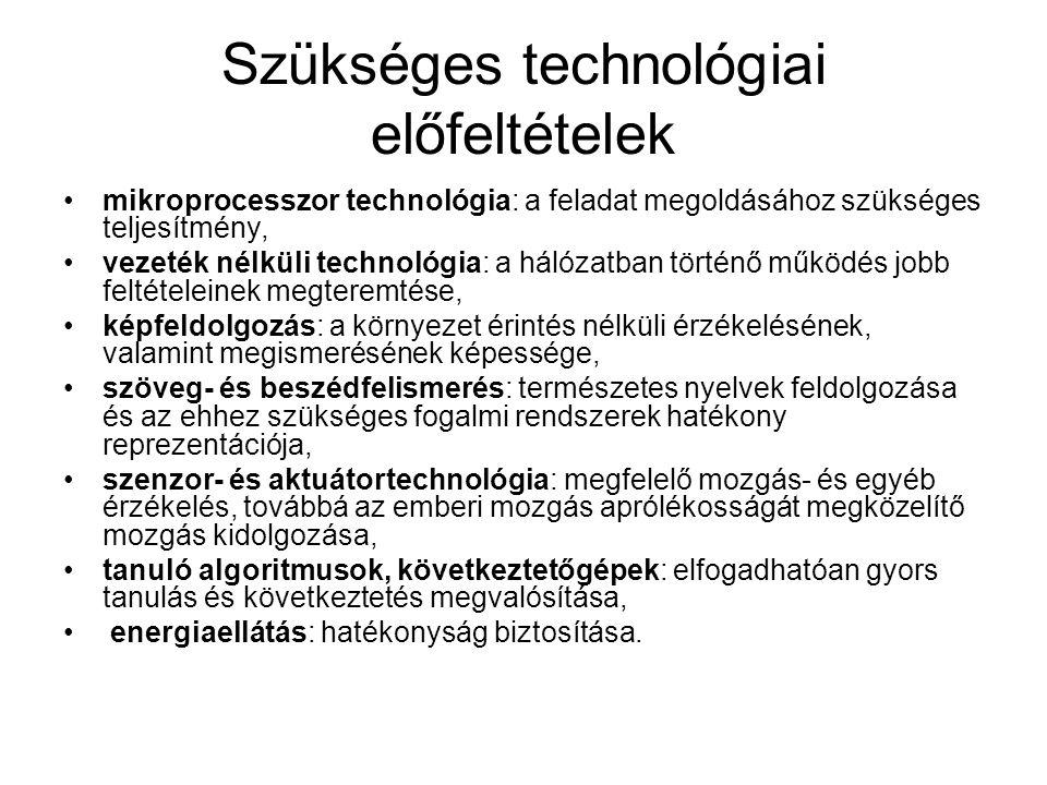 Szükséges technológiai előfeltételek