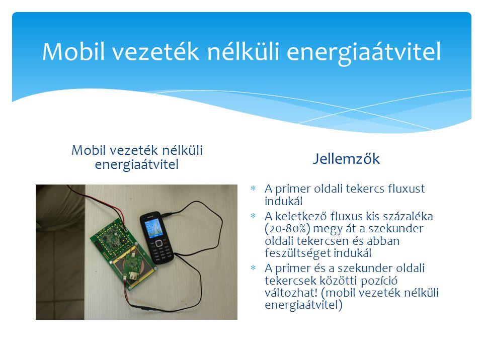 Mobil vezeték nélküli energiaátvitel