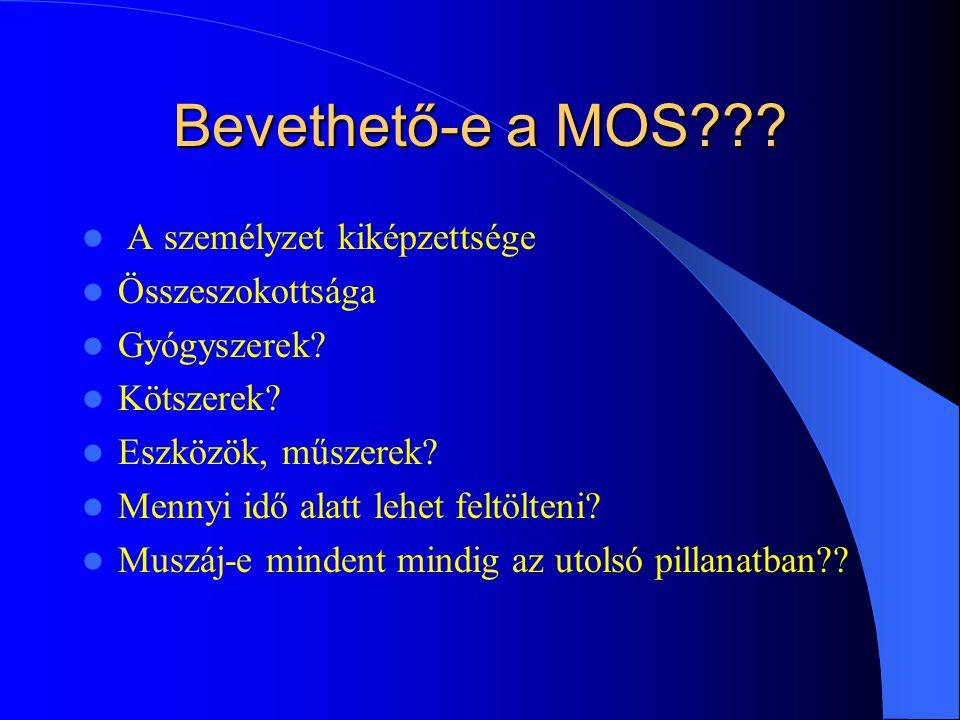 Bevethető-e a MOS A személyzet kiképzettsége Összeszokottsága