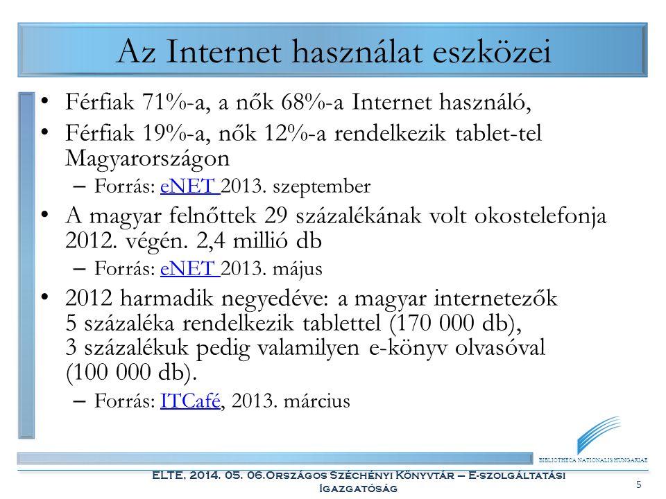 Az Internet használat eszközei