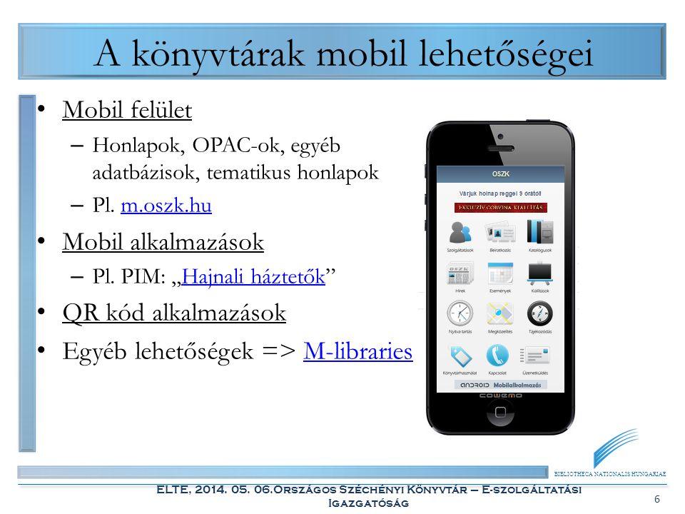 A könyvtárak mobil lehetőségei