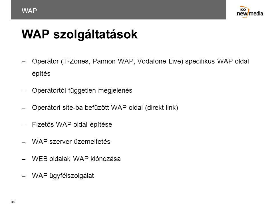 WAP szolgáltatások WAP