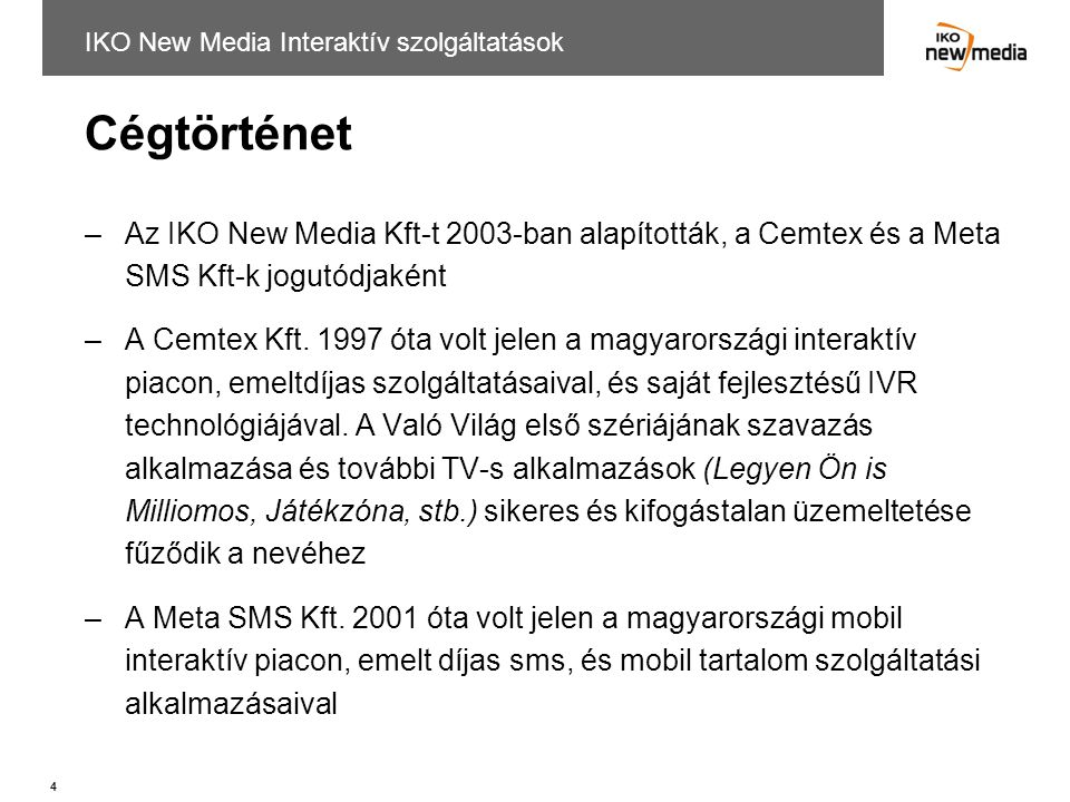 IKO New Media Interaktív szolgáltatások
