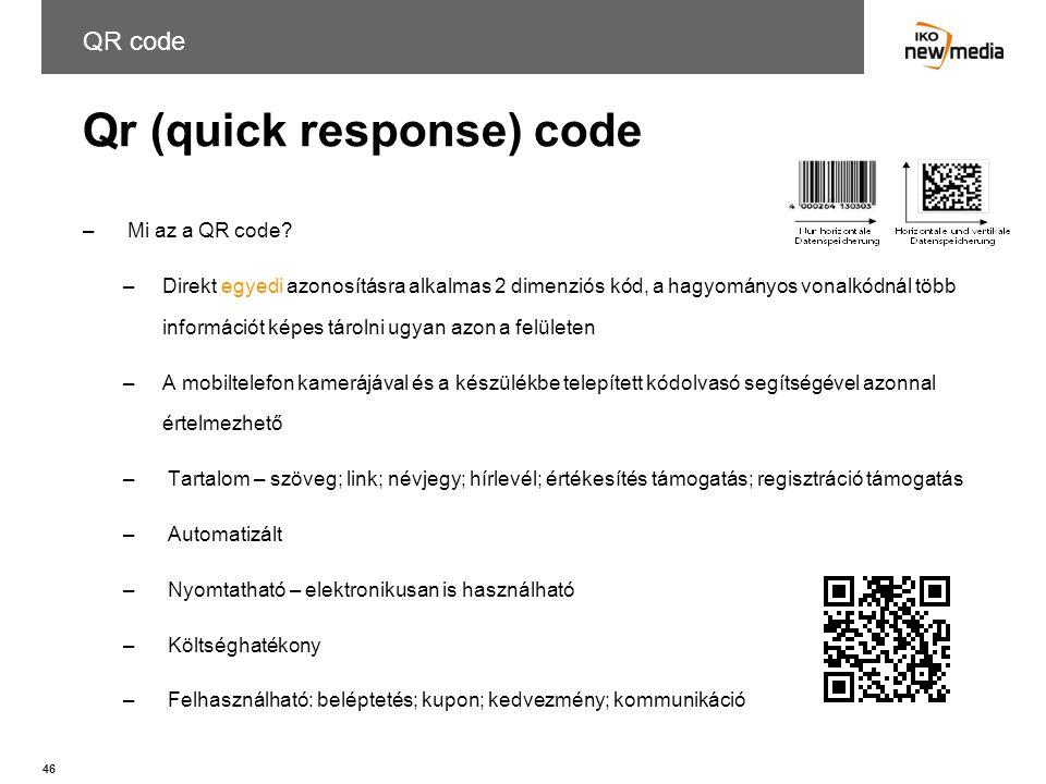 Qr (quick response) code