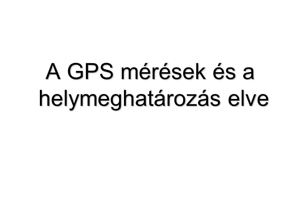 A GPS mérések és a helymeghatározás elve