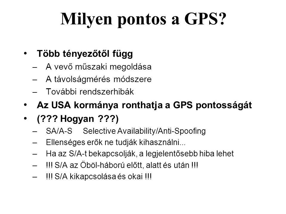 Milyen pontos a GPS Több tényezőtől függ