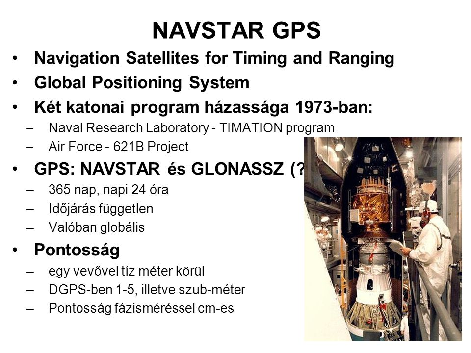 NAVSTAR GPS Navigation Satellites for Timing and Ranging