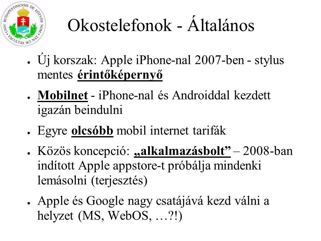 Okostelefonok - Általános