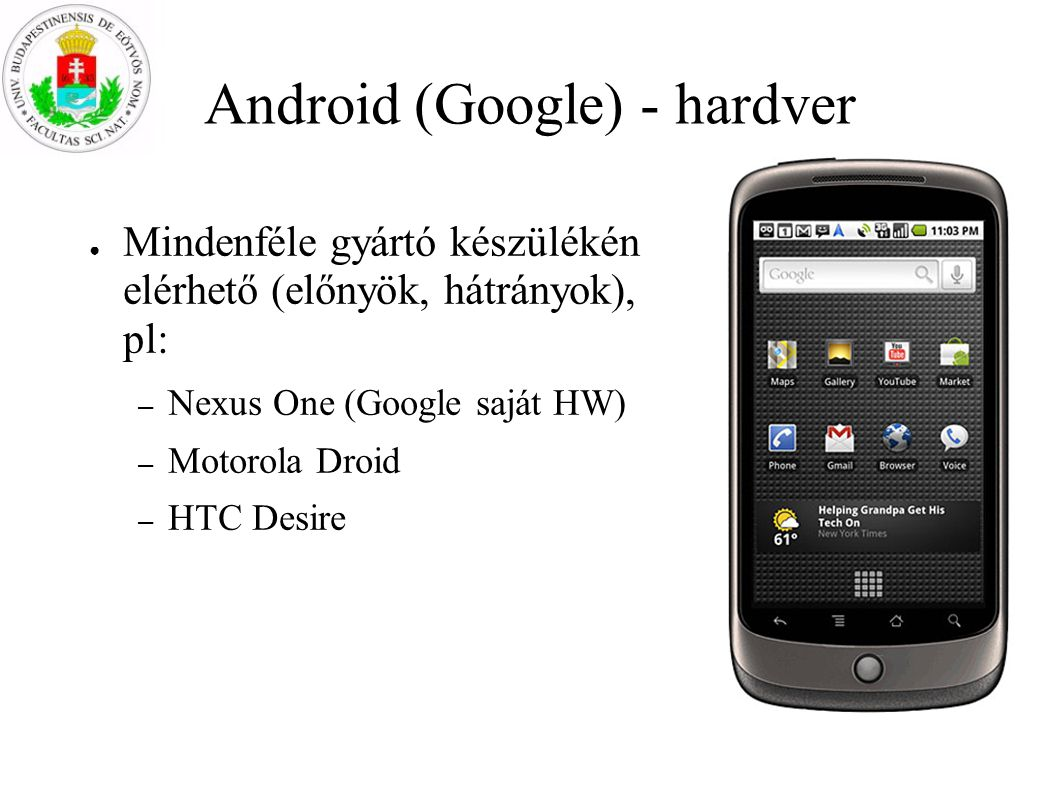 Android (Google) - hardver