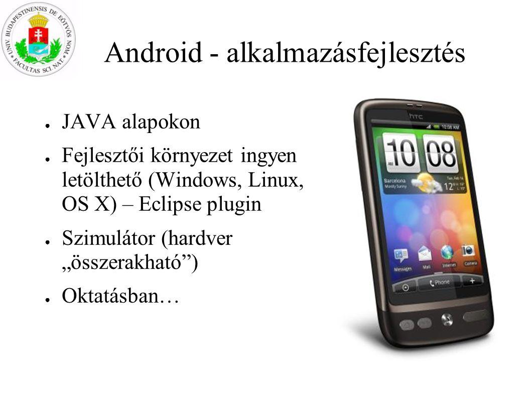 Android - alkalmazásfejlesztés