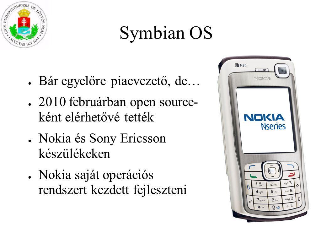 Symbian OS Bár egyelőre piacvezető, de…