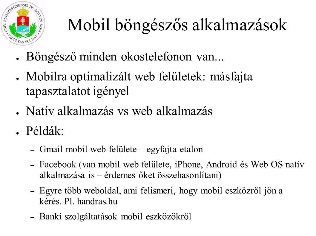 Mobil böngészős alkalmazások