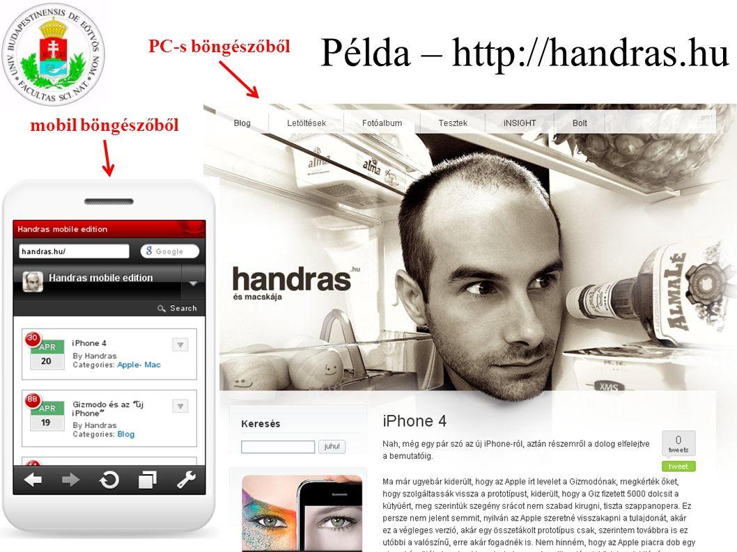 Példa – http://handras.hu