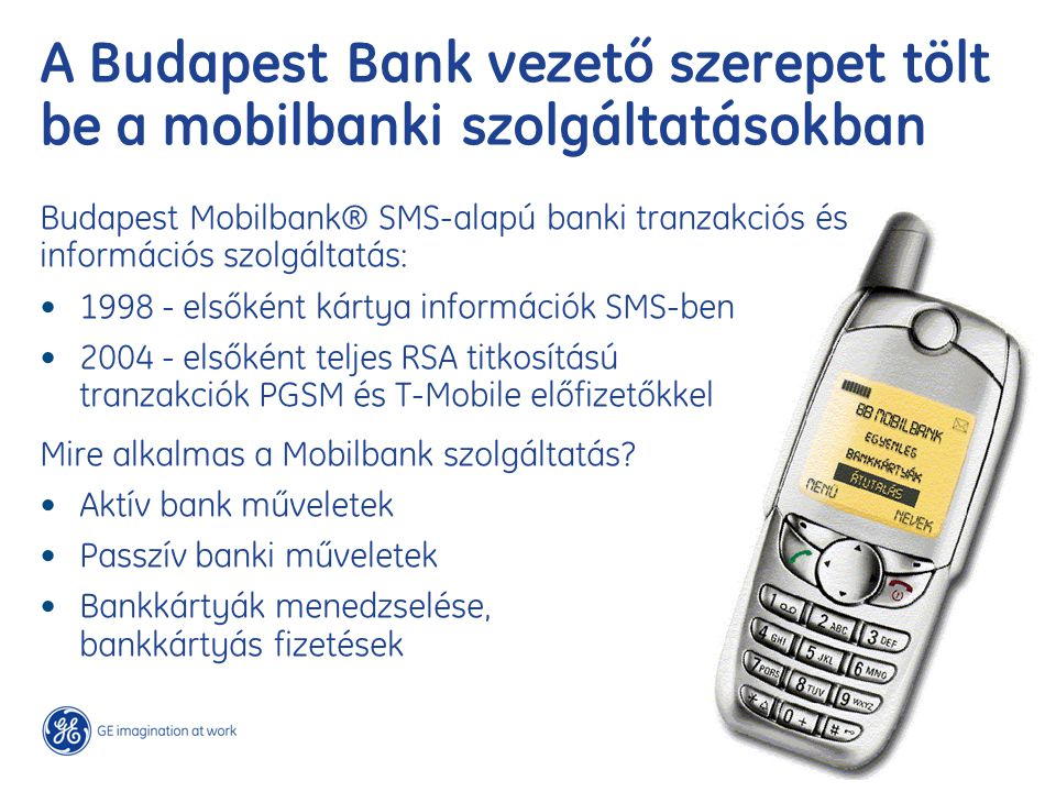A Budapest Bank vezető szerepet tölt be a mobilbanki szolgáltatásokban
