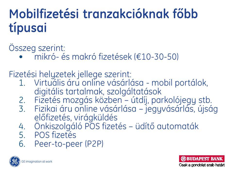 Mobilfizetési tranzakcióknak főbb típusai