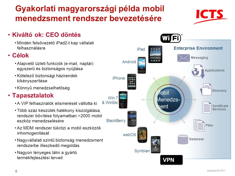 Gyakorlati magyarországi példa mobil menedzsment rendszer bevezetésére