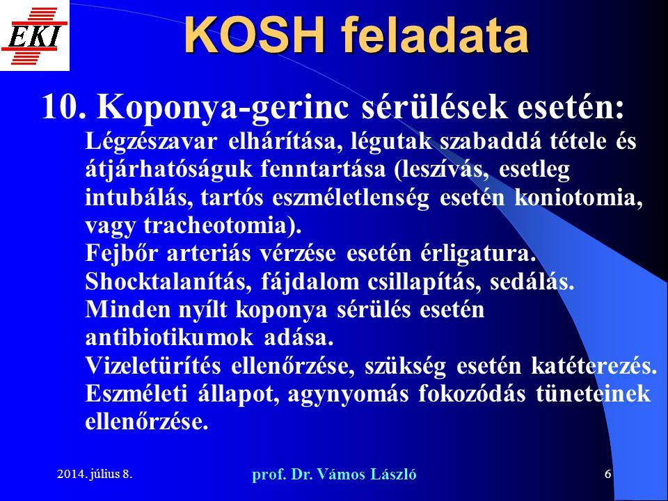 KOSH feladata