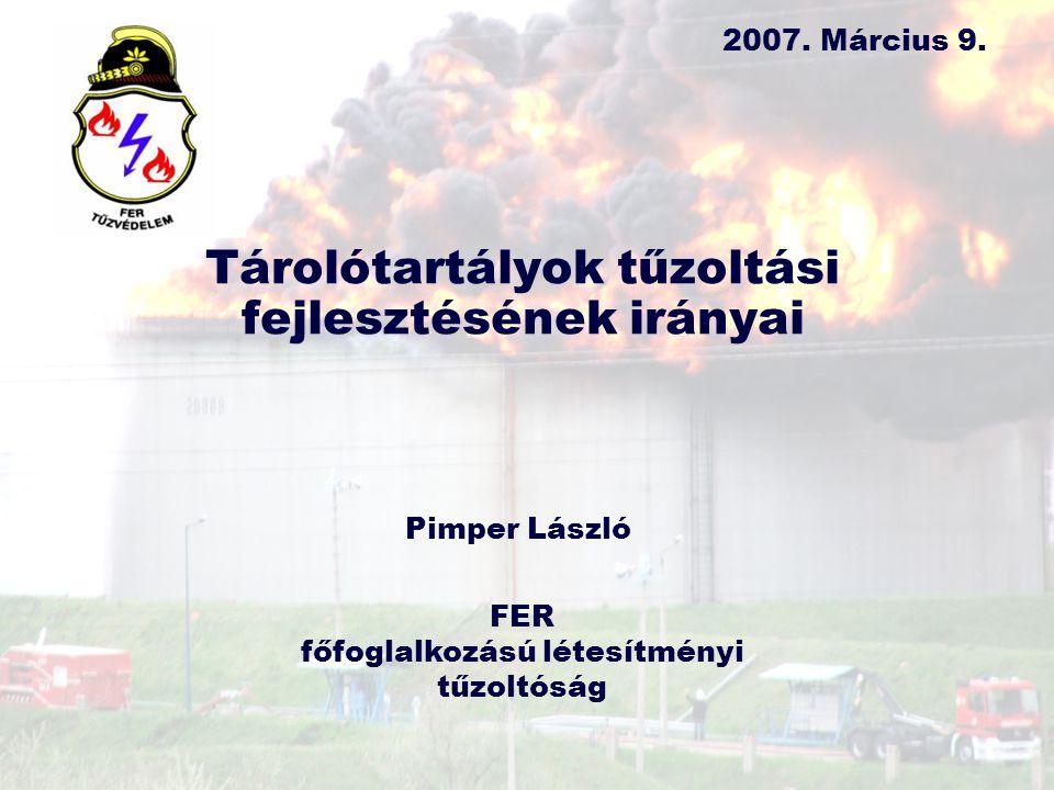 Tárolótartályok tűzoltási fejlesztésének irányai