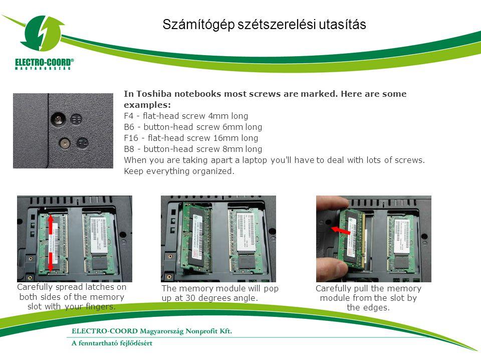 Számítógép szétszerelési utasítás