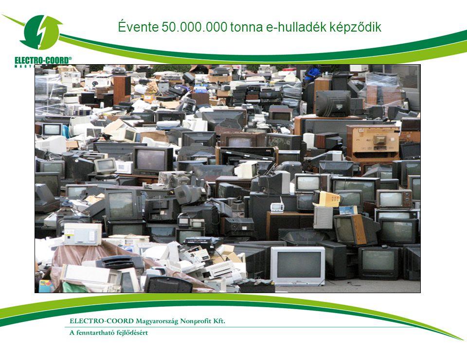 Évente 50.000.000 tonna e-hulladék képződik