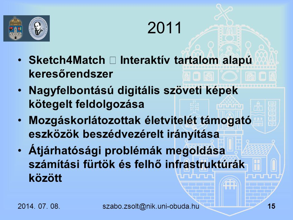 2011 Sketch4Match – Interaktív tartalom alapú keresőrendszer