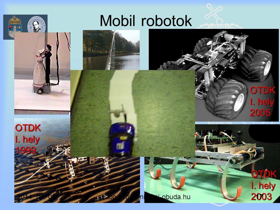 Mobil robotok OTDK III. hely 2005 OTDK I. hely 2005 OTDK I. hely 1999