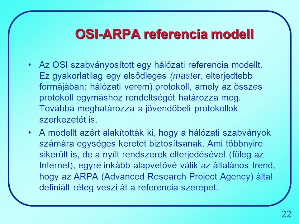 OSI-ARPA referencia modell