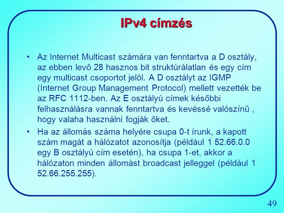 IPv4 címzés