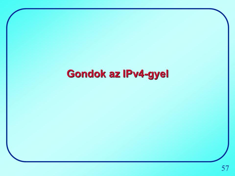 Gondok az IPv4-gyel
