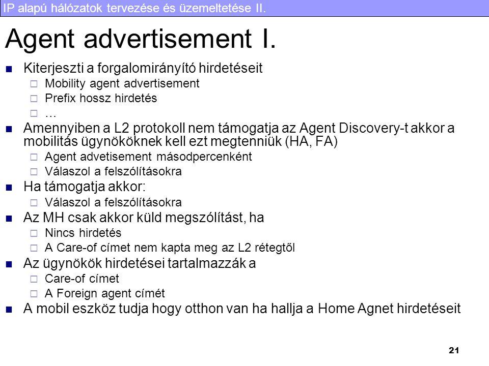 Agent advertisement I. Kiterjeszti a forgalomirányító hirdetéseit